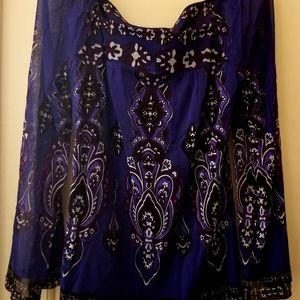 NWT INC boho blouse
